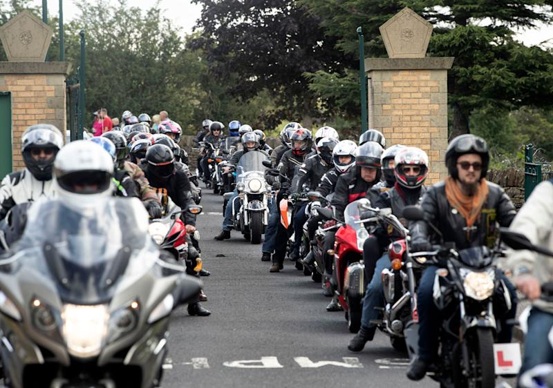 Bikers led the funeral cortege for the teenage brothers on Thursday  (Photo: PA Wire/PA Images)