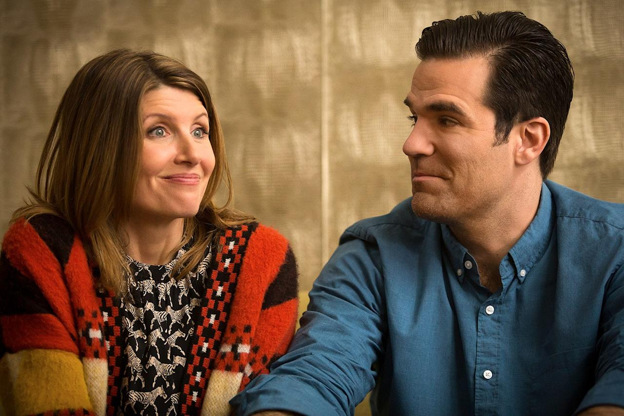 """This critically acclaimed Brit-com just wrapped up its fourth and final season—and since there are only six episodes per series, it's still a very fast watch. The show finds <strong>Sharon Horgan</strong>'s and <strong>Rob Delaney</strong>'s characters from opposite sides of the pond, Sharon Morris and Rob Norris, in a unique predicament: They hooked up while Rob was on a business trip to London, and Sharon subsequently finds out she's pregnant. The series follows Sharon and Rob's attempt to build a family on that shaky foundation, and its final season rounded the story out on a <a href=""""https://www.vulture.com/2019/03/catastrophe-season-4-amazon-review.html"""">high note</a>, making it a must-watch."""