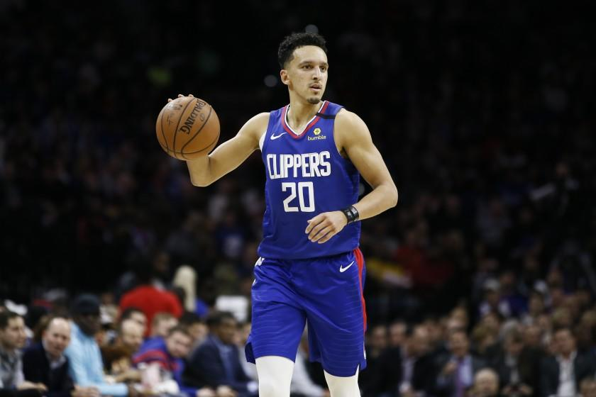 Los Angeles Clippers' Landry Shamet plays during an NBA basketball game against the Philadelphia 76ers.