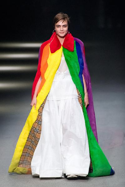 We Love...  Christopher Bailey promised a celebration of the rainbow - a symbol of inclusiveness and joy - throughout Burberry's February 2018 collection and his London Fashion Week show certainly delivered the revelry.