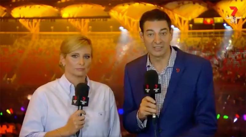 Channel 7 hosts Johanna Griggs and Basil Zempilas couldn't hide their disappointment. Source: Channel7