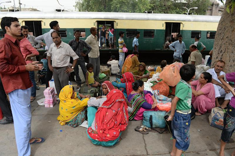 India's new government is seeking more private sector funds to boost its aging rail network, shown here in New Delhi on June 30, 2014 (AFP Photo/Sajjad Hussain)