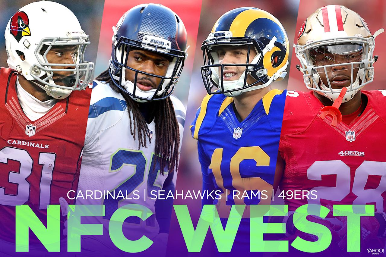 <p>The strength of this division will depend on the Arizona Cardinals' ability to bounce back. The Seattle Seahawks will be pretty strong again, the San Francisco 49ers will be bad and the Los Angeles Rams should improve some but likely won't be contenders. </p>