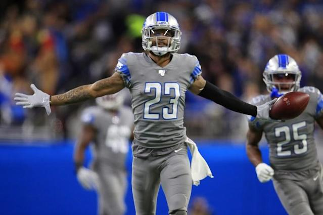 NFL cornerback Darius Slay, who is joining the Philadelphia Eagles will change his jersey number two 24 in tribute to the late NBA legend Kobe Bryant (AFP Photo/Gregory Shamus)