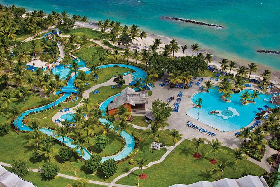 On the south coast of St. Lucia, Coconut Bay Beach Resort is a family-friendly vacation playground.
