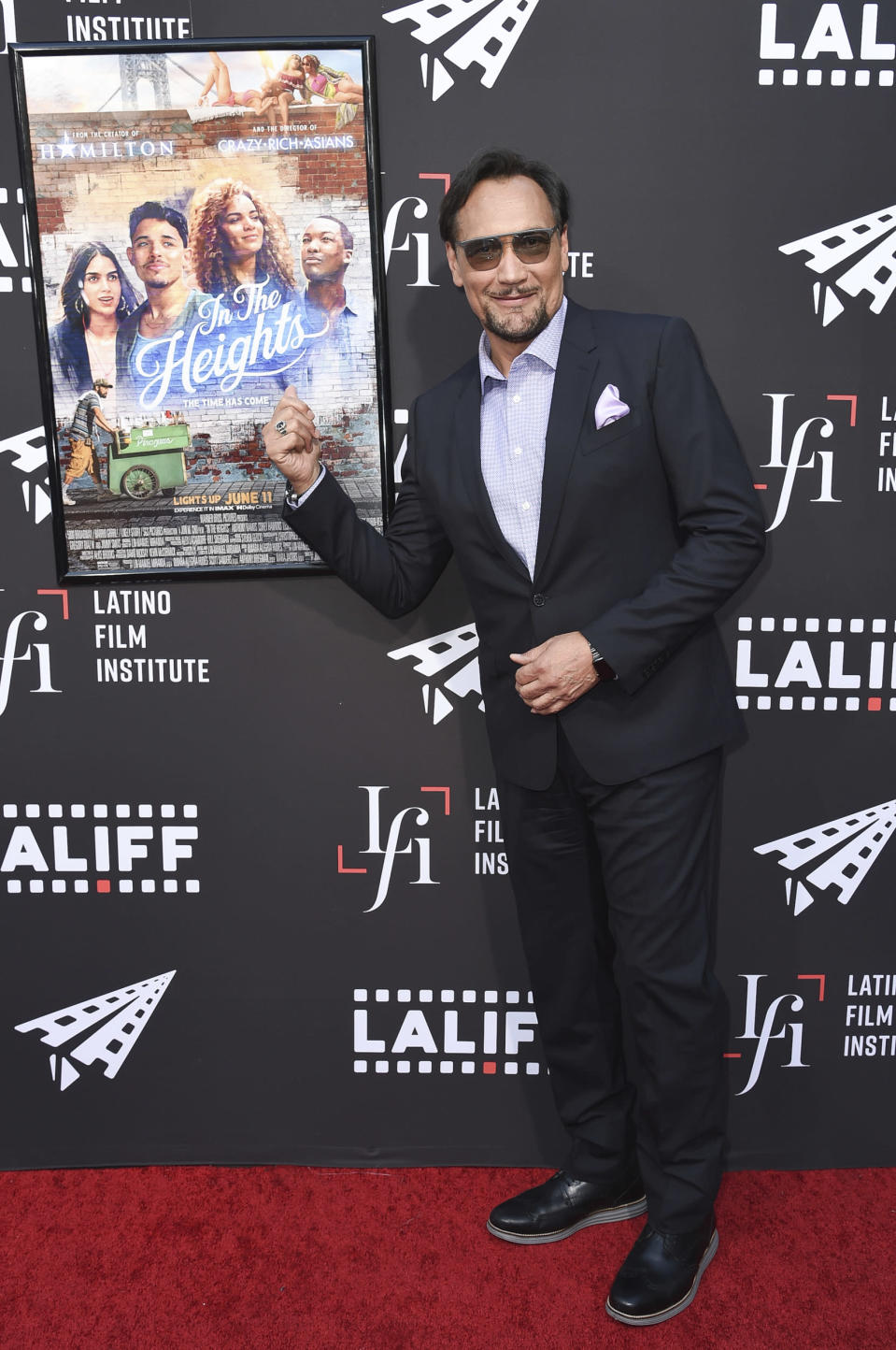 """Jimmy Smits arrives at a screening of """"In the Heights"""" during the Los Angeles Latino International Film Festival at TCL Chinese Theatre on Friday, June 4, 2021, in Los Angeles. (Photo by Richard Shotwell/Invision/AP)"""