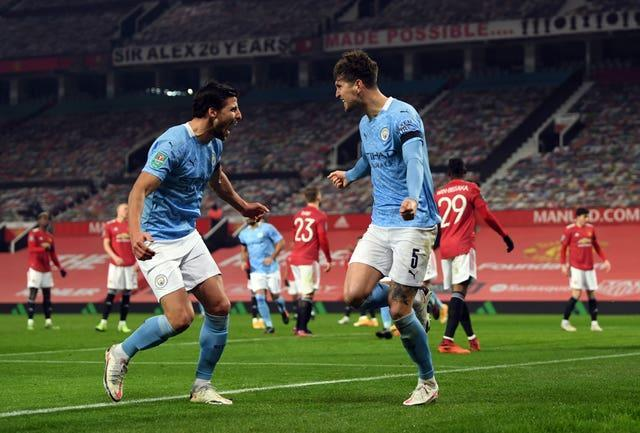 Manchester City beat Manchester United in January's Carabao Cup semi-final