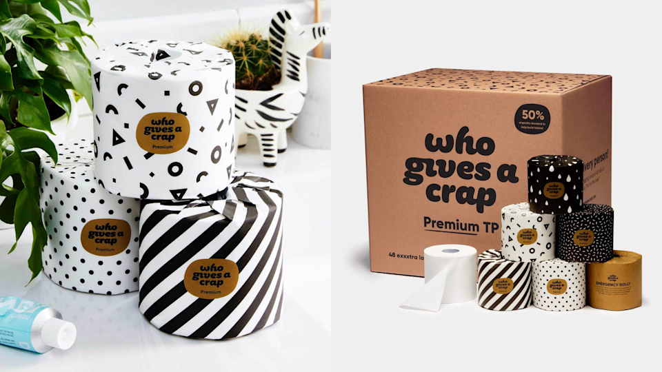Get cheeky with this toilet paper.