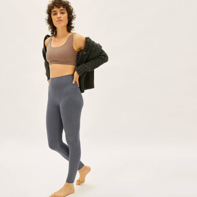 The Perform Legging in Heathered Charcoal. Image via Everlane.