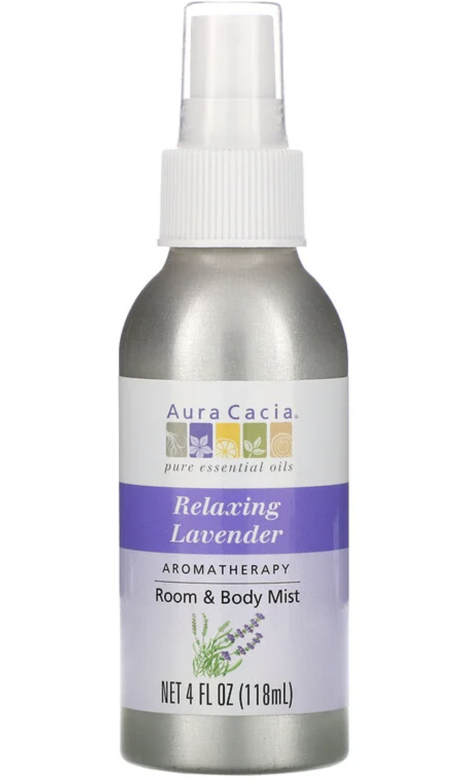 Aura Cacia, Aromatherapy Room & Body Mist, Relaxing Lavender. PHOTO: iHerb