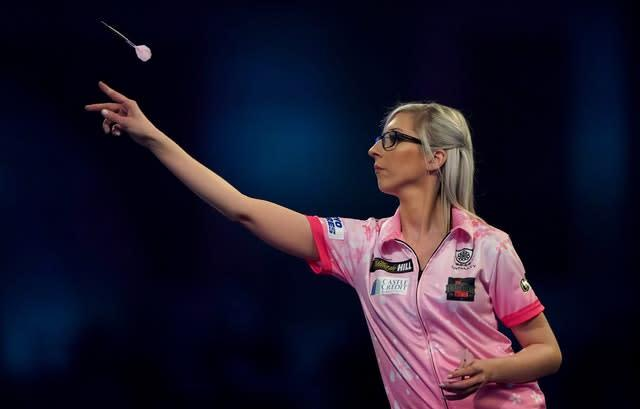 Fallon Sherrock is making the right impression in darts (Tess Derry/PA).