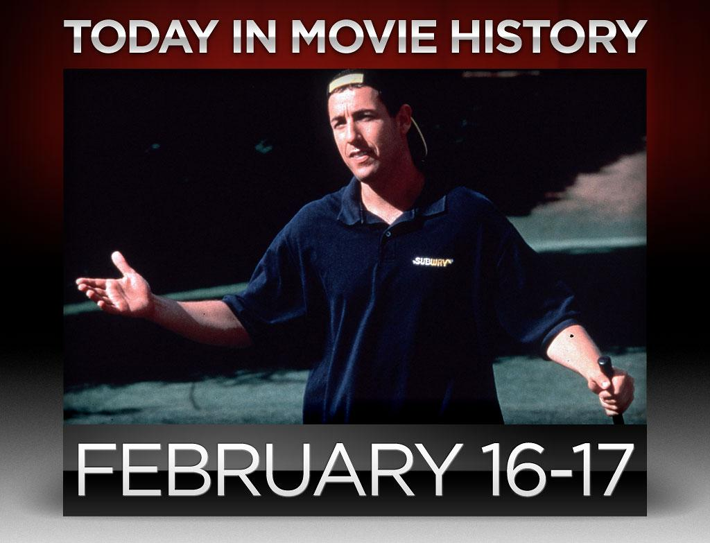 "<p><strong>1996</strong> – Adam Sandler's ""<a href=""http://movies.yahoo.com/movie/happy-gilmore/"">Happy Gilmore</a>"" was released on this day. Besides helping to cement Sandler's status as one of the most bankable stars of the upcoming decade, the golf comedy also took home the very first Best Fight award at the MTV Music Awards for the brouhaha between Sandler and ""The Price is Right"" host Bob Barker.</p>"