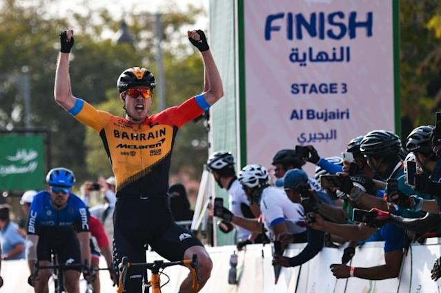 Bauhaus sealed his first stage win of 2020 in Saudi Arabia (AFP Photo/Anne-Christine POUJOULAT)