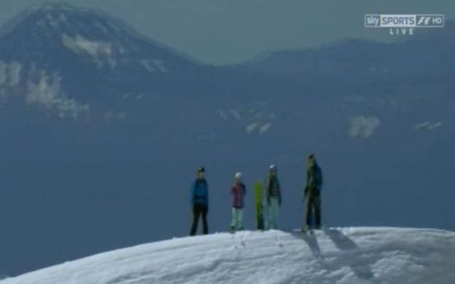 <span>Russian skiers</span> <span>Credit: Sky Sports F1 </span>