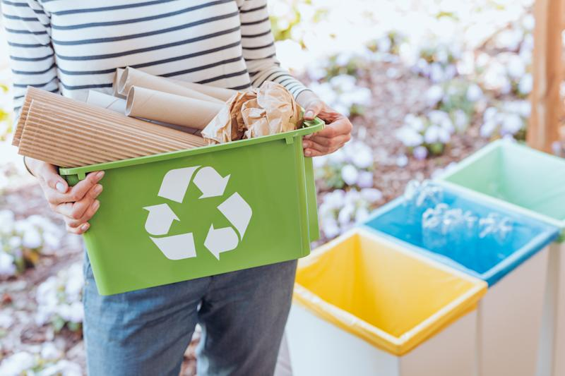 Half of English councils reported a 20% increase in the material they were collecting for recycling, compared to last year. Photo: Getty