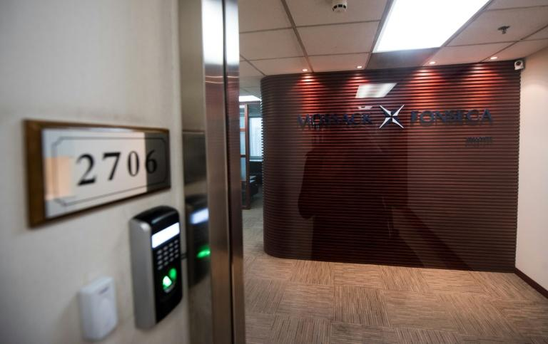 An office of the Panama-based law firm Mossack Fonseca in Shanghai on April 6, 2016