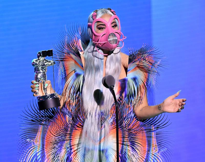 UNSPECIFIED - AUGUST 2020: Lady Gaga accepts the Best Collaboration award for