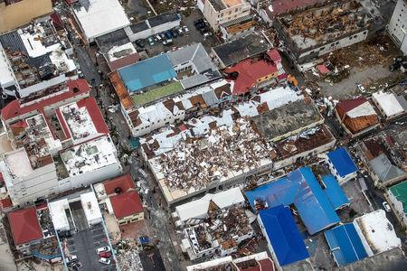 FILE PHOTO: View of the aftermath of Hurricane Irma on Sint Maarten Dutch part of Saint Martin island in the Caribbean September 6, 2017.  Netherlands Ministry of Defence/Handout via REUTERS