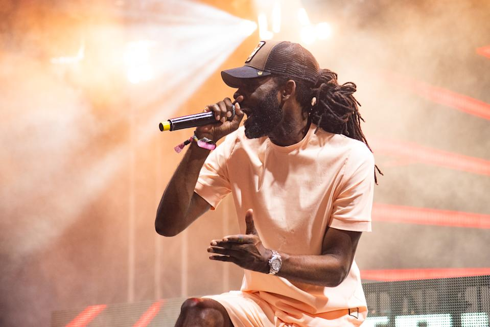 LONDON, ENGLAND - AUGUST 25:  Wretch 32 performs on stage during day 2 of South West Four Festival 2019 at Clapham Common on August 24, 2019 in London, England.  (Photo by Joseph Okpako/WireImage)