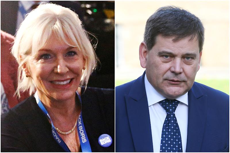 File images of Tory MPs Nadine Dorries and Andrew Bridgen (PA/Reuters)