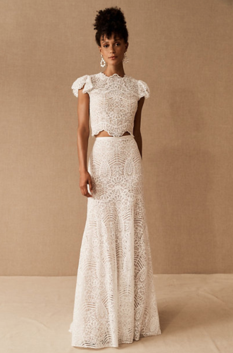 Willowby by Watters 'Sariah' Top & 'Sariah' Skirt (Photo via BHLDN)