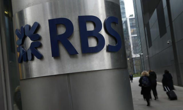 A Royal Bank of Scotland sign outside the bank's offices in London. (AP Photo/Alastair Grant/File)
