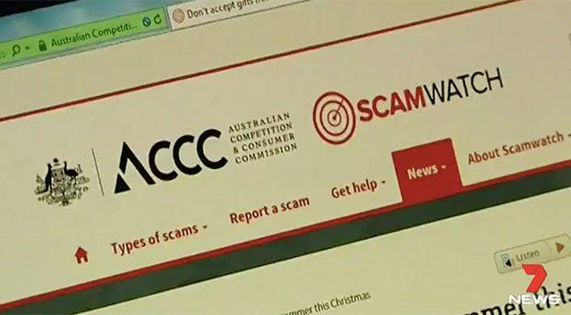 The ACCC runs a Scam Watch and is warning about three common scams at Christmas. Source: 7 News