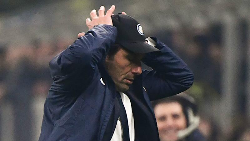 Inter coach Conte banned for one match after fifth yellow card