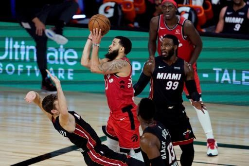 Razor-sharp Raptor: Fred VanVleet scored a career-high 36 points for Toronto as they beat Miami Heat 107-103
