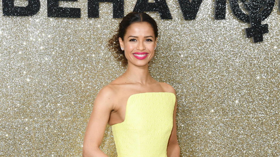 "Gugu Mbatha-Raw attends the ""Misbehaviour"" world premiere on March 09, 2020. (Photo by Gareth Cattermole/Getty Images)"