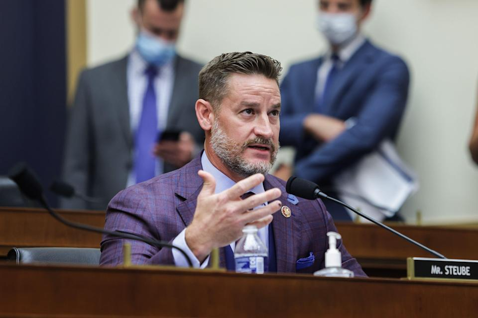 <p>Anger as GOP lawmaker calls trans people an insult to God</p> (Photo by GRAEME JENNINGS/POOL/AFP via Getty Images)