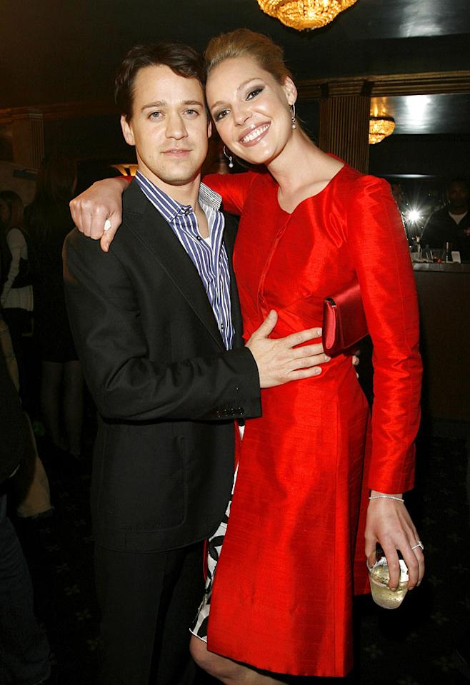 "T.R. Knight and Katherine Heigl are co-stars on ""Grey's Anatomy"" and best friends. Donato Sardella/<a href=""http://www.wireimage.com"" target=""new"">WireImage.com</a> - April 22, 2007"