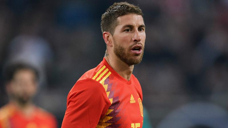Ramos hailed for attending Spain training hours after son's birth