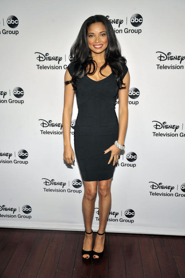 "Rochelle Aytes (""Mistresses"") attends the Disney ABC Television Group 2013 TCA Winter Press Tour at The Langham Huntington Hotel and Spa on January 10, 2013 in Pasadena, California."
