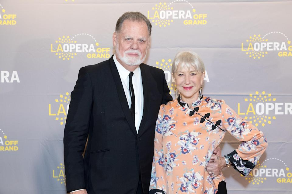 Taylor Hackford and Helen Mirren attend the Placido Domingo 50th Anniversary Concert in November in Los Angeles. (Photo: Greg Doherty/Getty Images)