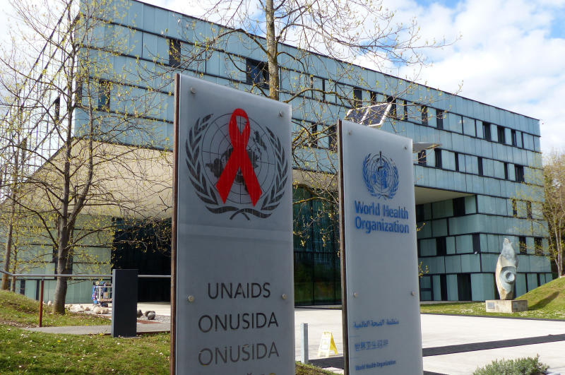 "FILE - In this file photo dated Monday, April 8, 2019, shows the headquarters building of UNAIDS in Geneva, Switzerland.  In a statement issued late Tuesday April 16, 2019, the U.S. government says it is ""concerned"" about allegations of misused funds at the U.N.'s AIDS agency after a report by The Associated Press earlier this week revealed ongoing financial and sexual misconduct problems at the agency.(AP Photo/Jamey Keaten, FILE)"