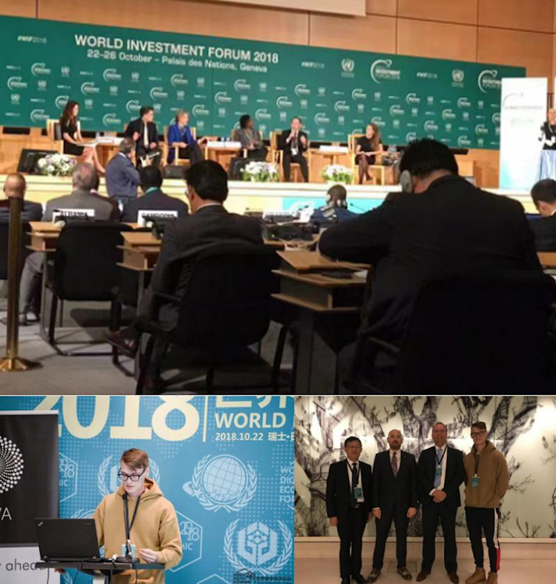 PLUS TOKEN Co-founder Leo Attended the United Nations World Digital Economy Forum and Met with Global Blockchain Technology Experts