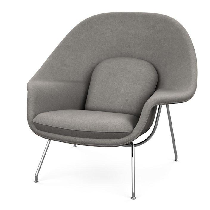 """<p><strong>Eero Saarinen</strong></p><p>knoll.com</p><p><strong>$4196.00</strong></p><p><a href=""""https://go.redirectingat.com?id=74968X1596630&url=https%3A%2F%2Fwww.knoll.com%2Fproduct%2Fwomb-chair&sref=https%3A%2F%2Fwww.redbookmag.com%2Fbeauty%2Fg37132432%2Fchair-types-styles-designs%2F"""" rel=""""nofollow noopener"""" target=""""_blank"""" data-ylk=""""slk:Shop Now"""" class=""""link rapid-noclick-resp"""">Shop Now</a></p><p>When Eero Saarinen first began working with Florence Knoll, she challenged him to create the world's most comfortable chair. What could be more comfortable, he reasoned, than the womb? Enter, the aptly-named chair, first released in 1948 and continually produced by Knoll since then. </p>"""