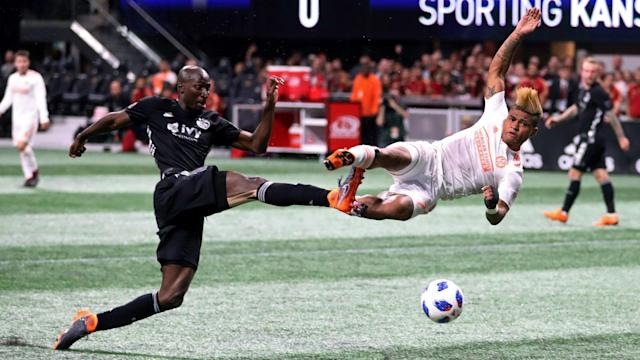 Atlanta United's eight-match unbeaten run came to an end against the Western Conference leader, while Toronto lost again in MLS.