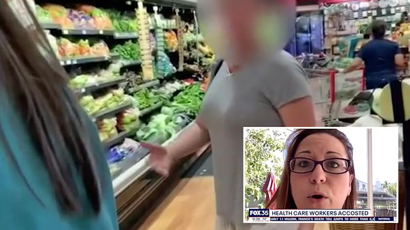 Pictured is the incident between the women. Ms Roberts is seen inset. Source: Fox 35