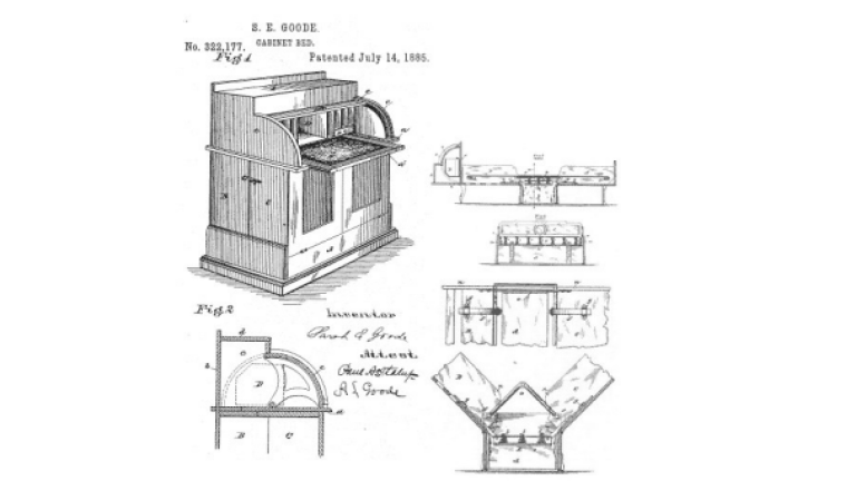 Sarah Goode became the first black woman to receive a patent after she invented the Folding Cabinet Bed (a predecessor of the sofa bed). Image via BET