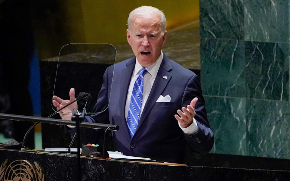 President Joe Biden delivers remarks to the 76th Session of the United Nations General Assembly - AP Photo/Evan Vucci