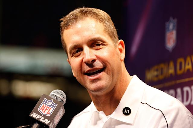 Ravens coach John Harbaugh