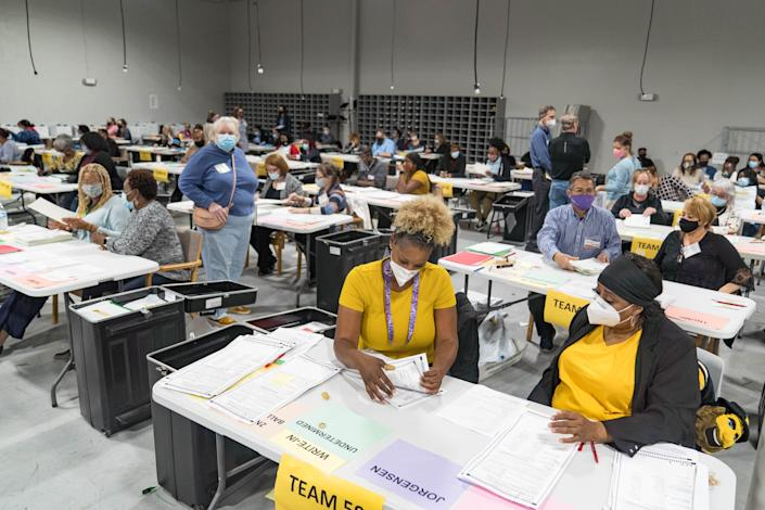 Election workers