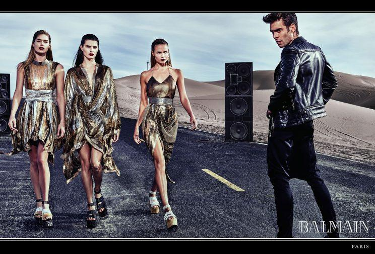 <p><strong>Balmain Spring Summer 2017</strong> <strong>Photographer:</strong> Steven Klein <strong>Models:</strong> Isabeli Fontana, Natasha Poly, Doutzen Kroes and Jon Kortajarena <strong>Inspiration:</strong> Normadic Balmain army looking strong and moving through a dreamlike landscape. </p>
