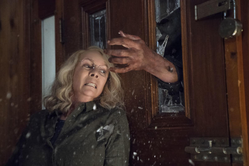 Jamie Lee Curtis in the new Halloween film which will be released in the UK on October 19 (Universal Pictures/PA)