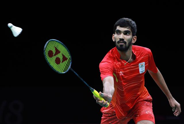 <p>Badminton – Gold Coast 2018 Commonwealth Games – Mixed Team Gold Medal Match – India v Malaysia – Carrara Sports Arena 2 – Gold Coast, Australia – April 9, 2018. Srikanth Kidambi of India in action. REUTERS/Athit Perawongmetha </p>