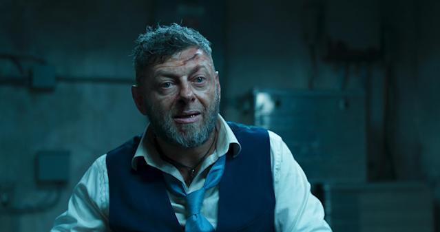 Andy Serkis as Ulysses Klaue in <i>Black Panther</i>. (Photo: Marvel Studios)