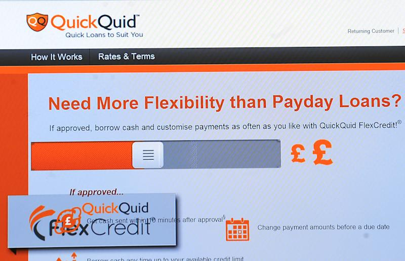 General view of the QuickQuid money lending website page. (Photo by Rui Vieira/PA Images via Getty Images)