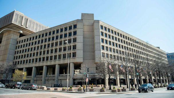 PHOTO: The Federal Bureau of Investigation is headquartered in the J. Edgar Hoover Building in Washington, D.C., April 03, 2019. (Eric Baradat/AFP via Getty Images, FILE)